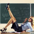 Beautiful young sexy teacher — Stok fotoğraf