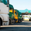 Lorry trucks cars — Stock Photo