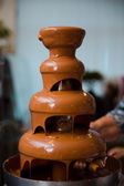 The chocolate fondue — Foto de Stock