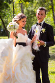 Young bride and groom — Stock Photo