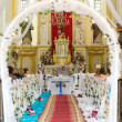 Stock Photo: Church is ready for wedding ceremony