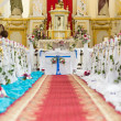 Church is ready for the wedding ceremony — Stock Photo