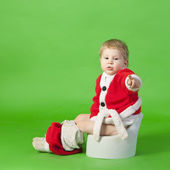 Boy in santa costume — Stock Photo