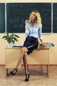 Young pretty teacher resting — Stock Photo
