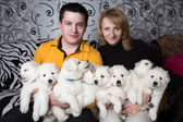 Dog breeders — Stock Photo