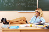 Beautiful young sexy teacher — Foto de Stock