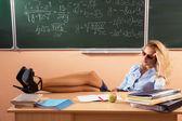 Vackra unga sexiga lärare — Stockfoto