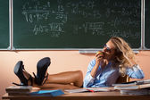 Hermosa joven profesora sexy — Foto de Stock