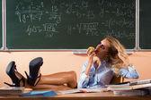 美しい若いセクシーな教師 — ストック写真