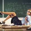 Beautiful young sexy teacher — Stock Photo #48885729