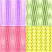 Four fabric seamless textures — Stock Vector