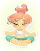 Girl practising yoga — Stock Vector