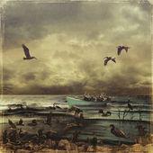 Oily Birds — Stock Photo