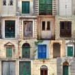 Stock Photo: Collage with doors from Montenegro