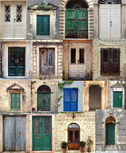 Collage with the doors from Montenegro — Stock Photo