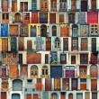 Stock Photo: Collage of Kiev front doors,Ukraine