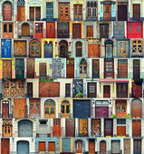 Collage of Kiev front doors,Ukraine — Stockfoto
