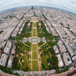 Bird's eye view of the city of Paris — Stock Photo