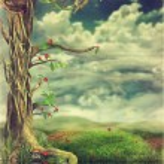 Spring landscape,Easter background for cards — Stock Photo #13895631