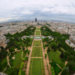 Stock Photo: Paris center aerial view at day time, wide angle of view