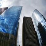 Futuristic Corporate Buildings in La Defense Paris — Stock Photo