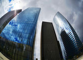 Futuristic Corporate Buildings in La Defense Paris — Stock Photo