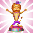 Lion in circus - Stock Photo