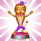 Lion in circus — Stock Photo