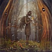 Raven en forêt — Photo