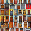 Collage of Kiev front doors,Ukraine - Stock Photo