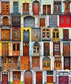 Collage of Kiev front doors,Ukraine — Stock Photo