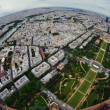 Bird's eye view of the city of Paris ,France , photographed fro — Stock Photo