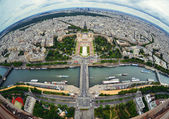 Bird's eye view of the city of Paris ,France — Stock Photo