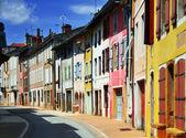 Fin färg hus i rad — Stockfoto