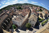 Aerial view of Cluny city in France , Burgundy — Stock Photo