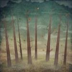 Landscape, autumn forest — Stock Photo