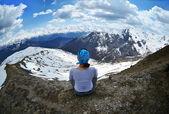 Relaxaci v horách gruzie — Stock fotografie