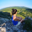 Relaxing in the mountains Crimea. Kachy-Kalion. — Stock Photo #27360109