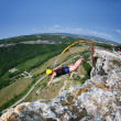 Rope jumping.Crimea. Kachy-Kalion. — Stock Photo