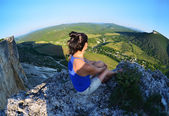Relaxing in the mountains Crimea. Kachy-Kalion. — 图库照片