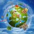 Friendly small Planet — Stockfoto