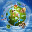 Friendly small Planet — Foto Stock