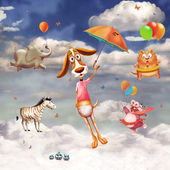 An image of flying animals — Stock Photo