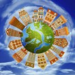 Homes and the planet — Stock Photo