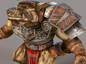 3D rendering Orc — Stock Photo
