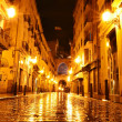 City street in night, Valencia, Spain — Stock Photo