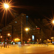 City street in night, Valencia, Spain — Foto Stock