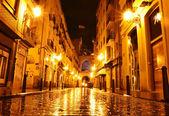 City street in night, Valencia, Spain — Stock Photo
