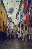 Vivid houses of Cuenca town, Spain — Stock Photo