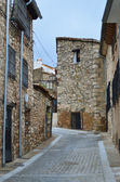 Street of the medieval town of Cuenca, Spain — Stock Photo